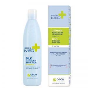 Szampon nawilżający do włosów suchych i zniszczonych z jedwabiem Cece Med Silk 300ml