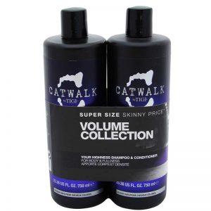 Zestaw nadający włosom objętości szampon i odżywka Tigi Catwalk Your Highness 2x750ml
