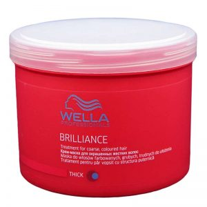 Maska do włosów farbowanych grubych Wella Brilliance 500ml