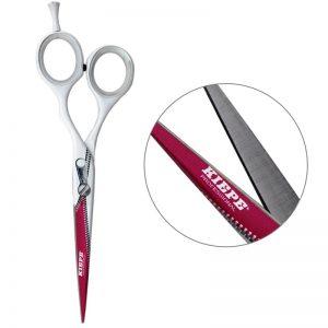 Nożyczki fryzjerskie Kiepe białe zip 5,5
