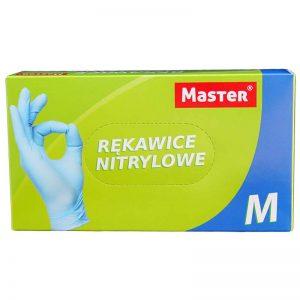 Rękawiczki jednorazowe nitrylowe Master M